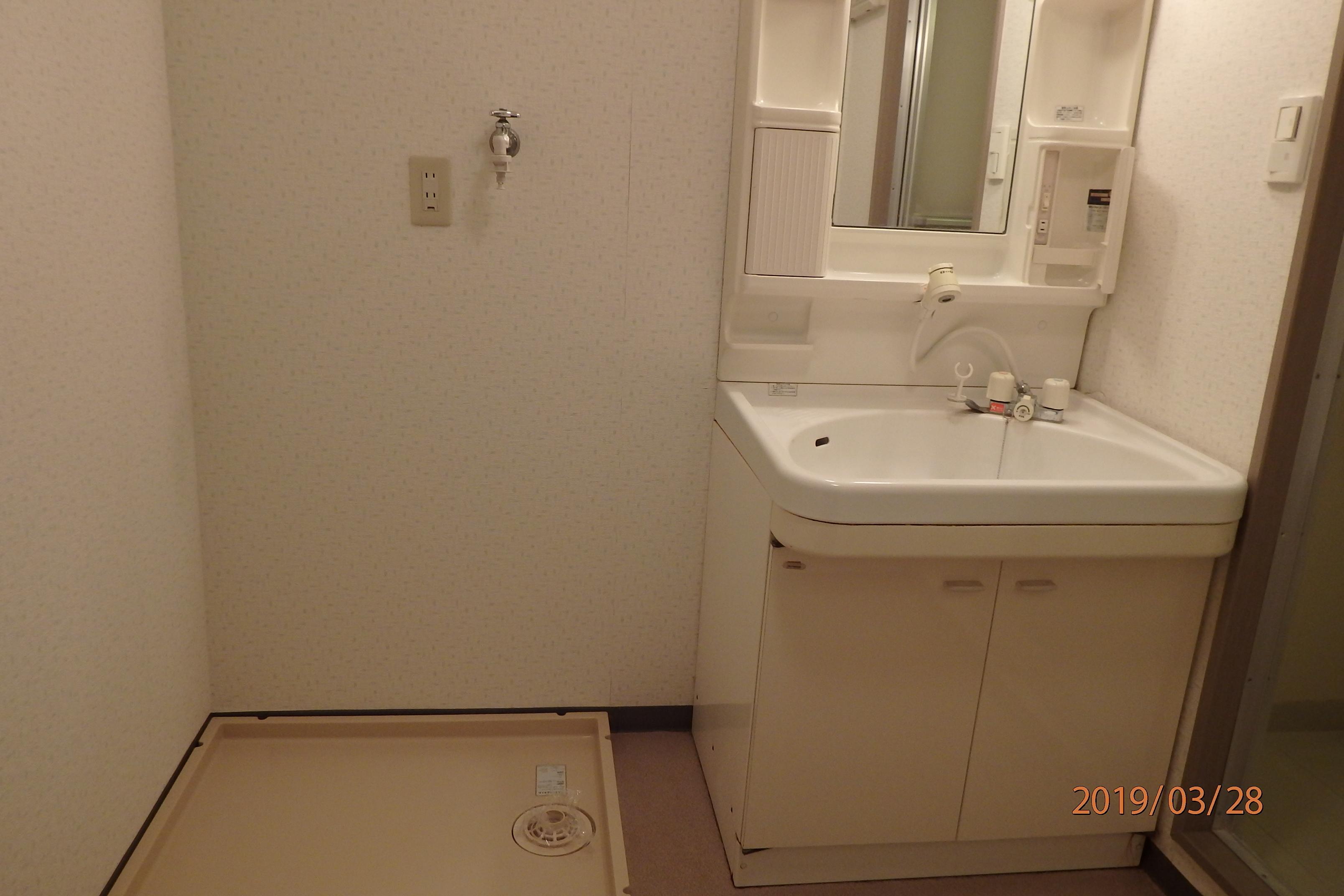 シャンプードレッサー洗面台・洗濯機置き場